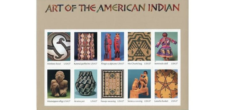 Native American Art on Stamps