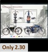 Motorcycles on Stamps