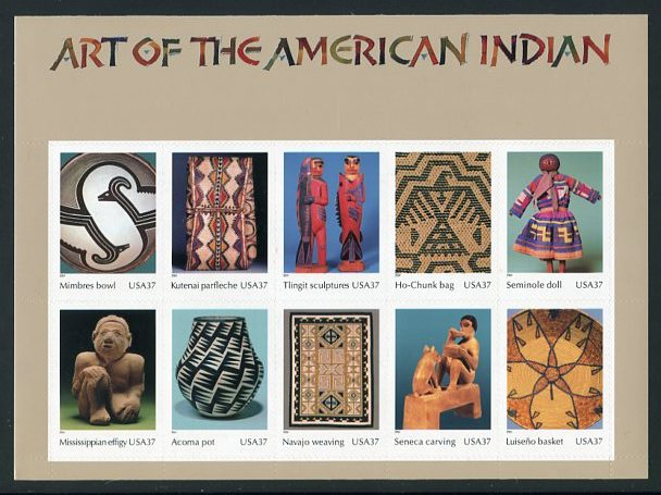 Art of American Indian, Mint Sheet of 10, United States, 2004 (Scott 3873)